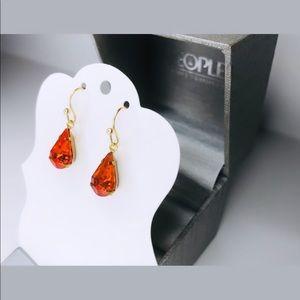 Orange Sapphire Pendant Earrings